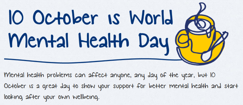World Mental Health Day 10th October 2017