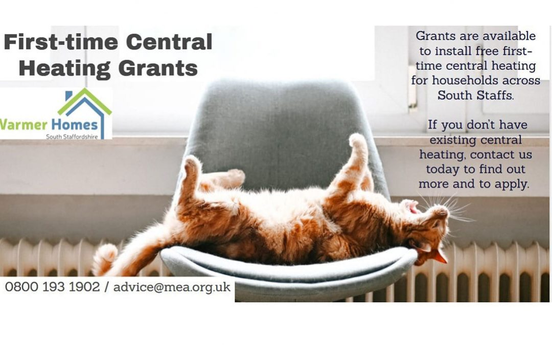 Struggling without central heating?  Our grants could help – from Warmer Homes South Staffs